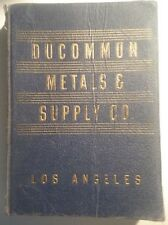 Ducommun Metals & Supply Co Catalog Los Angeles 1952 Asbestos Litigation