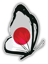 Japan Flag Butterfly Car Bumper Sticker Decal 4'' x 5''