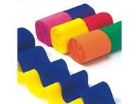 Kreppband 6 x 10 m 50 mm breit 6 Farben (0,12 EUR/m)