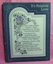 Stony Creek Collection ~ Counted Cross Stitch Book 20 ~ It's Relative Love