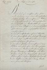 ANTIK Alte Handschrift Urkunde Cop. Kaufvertrag 1840 Heiligenstadt