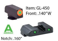 AMERIGLO Spartan Operator Sight  Orange/ Green - GLOCK 42 / 43     #GL-450