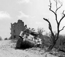 WW2 Photo WWII US Army M4 Sherman Tank 10th Mountain Italy 1944 / 3116