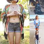 Women Floral Print Kimono Cardigan Casual Chiffon Loose Coats Beach Tops Blouse