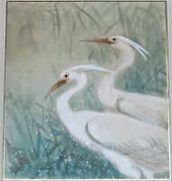 ORIGINAL WATERCOLOR PAINTING OF CRANES