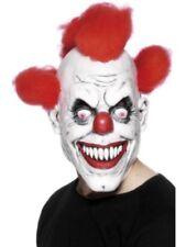 Scary Killer  Clown Mask Halloween Horror Latex  Red Hair Evil  Fancy Dress