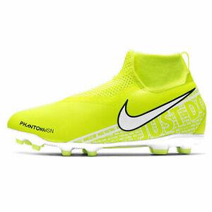 Nike JR Phantom Vision Academy DF FG Soccer AO3287-717 Volt Yellow 5.5 NWOB