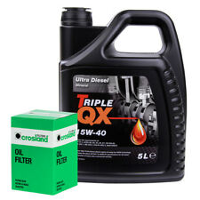 Triple QX Ultra Deisel 15W40 Engine Oil 5L and Oil Filter Service Kit