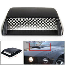 Black Auto Decorative 3D Simulation Air Flow Intake Hood Scoop Bonnet Vent Cover