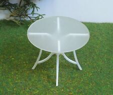 PATIO Dining TABLE,1:12 scale,DOLLHOUSE Garden Furniture,Accessory,Modern Style