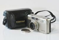 [Mint] CONTAX TVS DB 35mm Point & Shoot Zeiss Sonnar w/ Case from Japan 211