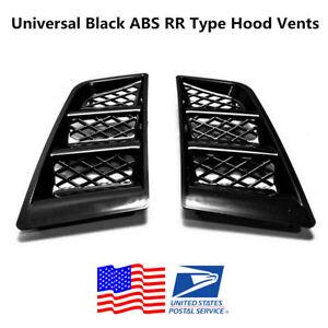 Auto Car Hood Vents Scoop Bonnet Air Vents Air Flow Vent Duct RR Type Universal