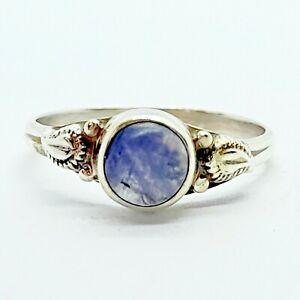 Brand New Sterling Silver 925 Gemstone (Round) Ring, Size K 1/2