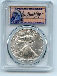 2021 (S) $1 Silver Eagle 1oz Dollar Emergency PCGS MS70 FS Leonard Buckley
