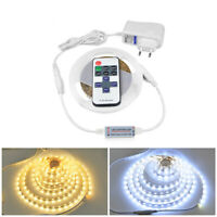 SMD4040 5M 600 LED Strip Light Dimmable Wireless RF Remote Control Power Adapter