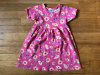 Oshkosh B'gosh Vintage 1990's Girls Size 5 Pink Short Sleeve Sunflower Dress