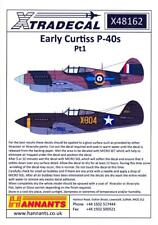 Xtra Decals 1/48 EARLY CURTISS P-40 WARHAWK Fighters Part 1