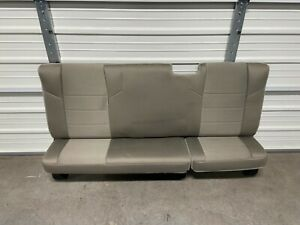 2008-2016 FORD F250 F350 SUPER DUTY EXTENDED CAB REAR SEAT STONE GRAY CLOTH