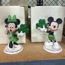 Lenox Disney Erin Go Bragh Mickey & Minnie Figurines Mouse St Patrick's Day NEW