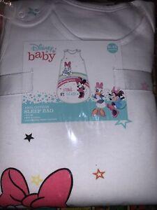 Disney Baby 100% Cotton Sleep Bag 2.5 Tog 6-18 months. Minnie Mouse & Daisy Duck