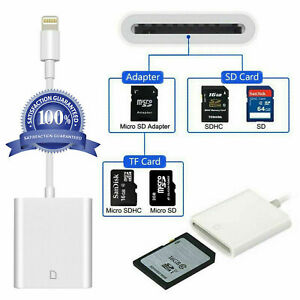 SD Card Camera Reader Adapter For iOS iPhone 6 7 8 Plus 11 XS 12 iPad 2 3 4 6 7
