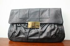 Giuseppe Zanotti Stunning Oversized Pleated Leather Clutch Bag