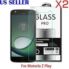 2X 9H Premium Tempered Glass Screen Protector For Motorola Moto Z Play Droid