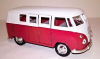 VW Red Classic Campervan Diecast Car Model 1:38 Scale Collectors NEW