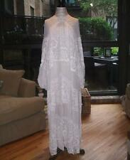 NWT Free People Bohemian Winds Maxi Dress in Ivory Sz M/L