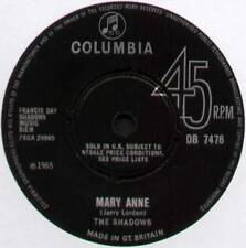 "SHADOWS ~ MARY ANNE / CHU-CHI ~ 1965 UK 7"" SINGLE ~ COLUMBIA DB 7476 [Ref.1]"