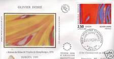 2797 FDC ENVELOPPE 1er JOUR SOIE OLIVIER DEBRE EUROPA