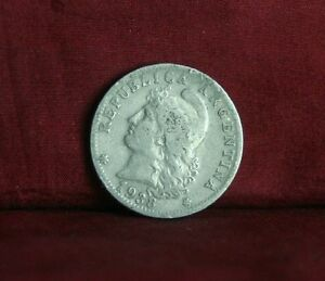 1938 Argentina 20 Centavos World Coin Liberty Cap Head KM36 twenty cents