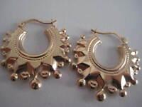 Victoriano Pendiente De Aro Oro Grande Oro Amarillo de 9 Quilates