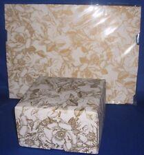 "4 womens flower print storage 12.7cm x 12.7cm x 3"" paper boxes"
