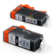 2x Ink PGI520 Black Only for Canon MP540 MP560 MP980 MX870 IP3600 IP4600 Printer