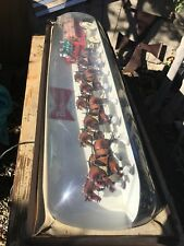 Vintage Budweiser Clydesdales Lighted Bar Sign