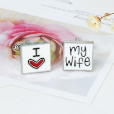Fashion Cufflink I Love My Wife Design Cuff Link Men Shirt Charm Cufflinks 、HC