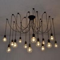 Vintage Edison Industrial Style Pendant Lights Retro DIY Chandelier Ceiling Lamp