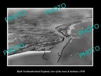 8x6 HISTORIC PHOTO OF BLYTH NORTHUMBERLAND ENGLAND THE TOWN & HARBOUR c1930 1