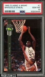 1992 Classic 4 Sport Shaquille O'Neal Rookie #1 P5A 10 Gem Mint