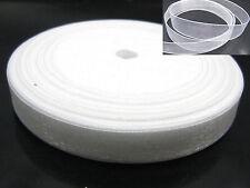 "50 Yards 3/8"" (10mm) White Wedding Crafts Sheer Organza Ribbon"