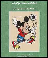 """Counted Cross Stitch MICKEY MOUSE """"Soccer"""" - COMPLETE KIT #10-6 KIT"""