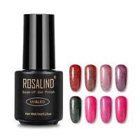 Rosalind 7ml Nail Art Gel Polish Manicure Glitter Soak Off UV/LED 29 Colors
