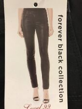 Level 99 Womens Stretch Mid Rise Coated Skinny Jeans. Size 29/8