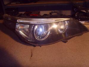 BMW 5 SERIES E60/E61 ADAPTIVE XENON HEADLIGHT O/S  (2006, PRE FACELIFT) COMPLETE