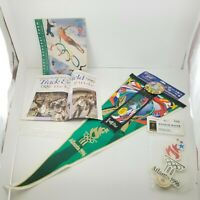 VTG 1996 Olympic Atlanta Pennant Wincraft, Window Waver, Ticket Guide & Request