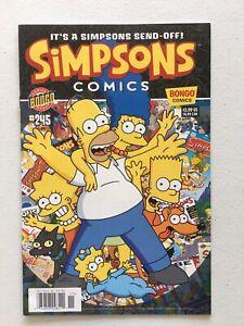 Simpsons Comics #245  FINAL ISSUE Newsstand Bongo Comics Key