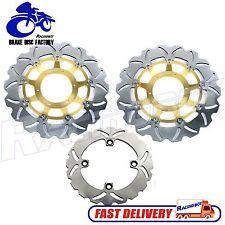 For 2003-2016 Honda CBR600RR Front & Rear Brake Disc Rotor Gold Wave Brakes