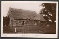 Postcard Markby Church nr Alford Lincolnshire thatched roof old RP WHS Kingsway