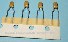 Condensateur 4.7 uF 16 V Tantale AVX Pas 5 mm  lot de 4 (en Bande)